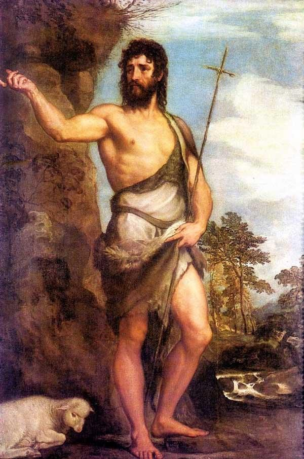 John the Baptist, Titian, 1540