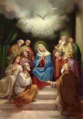The Virgin Mary and the Apostles at Pentecost
